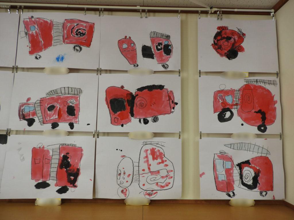 消防車絵画(ほし・そら・ひかり)