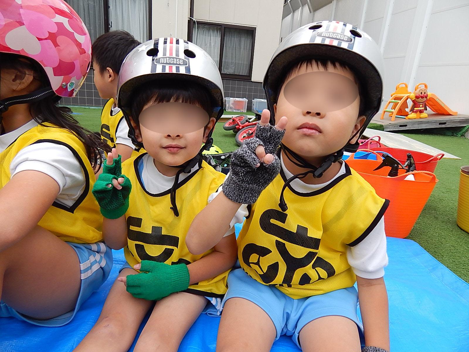 こぐま保育園 キックバイク教室(そら・ひかり)